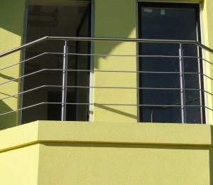 balustrada nierdzewna balkon trapezowy