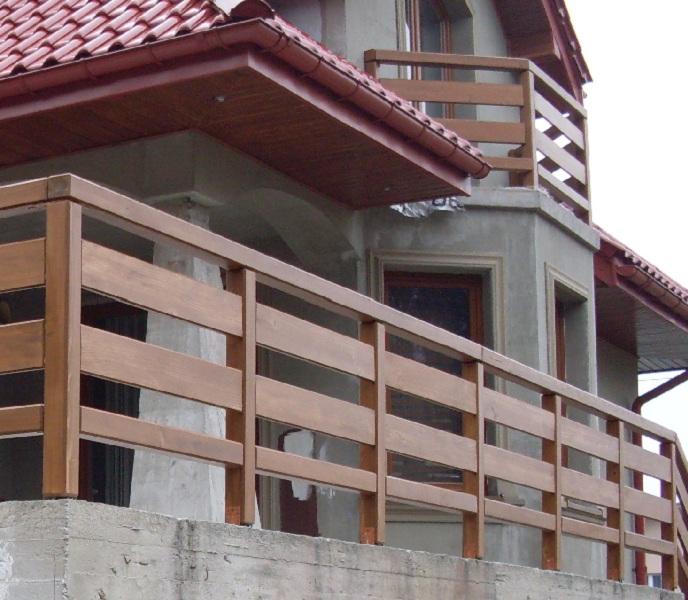 Balustrady Balkonowe Metalowo Drewniane Q Housepl