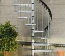 schody ocynkowane spiralne zewnętrzne metalowe