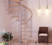 schody spiralne bukowe wewnętrzne